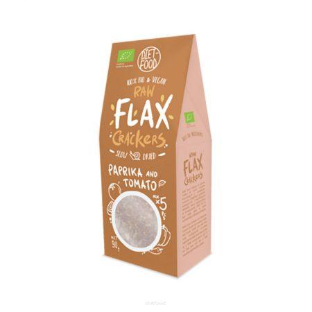 Ekologiški krekeriai su paprikomis ir pomidorais, Diet Food Flax Crackers (90g) | ifood.lt