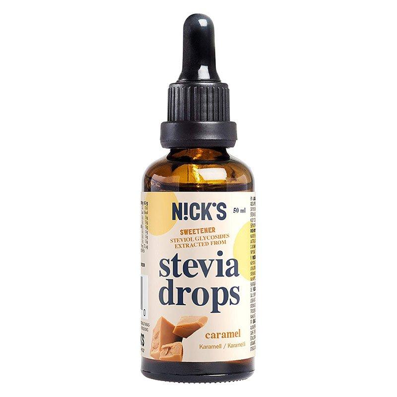 Stevija lašai, karamelės skonio, Nicks Stevia Drops Caramel (50ml) | ifood.lt