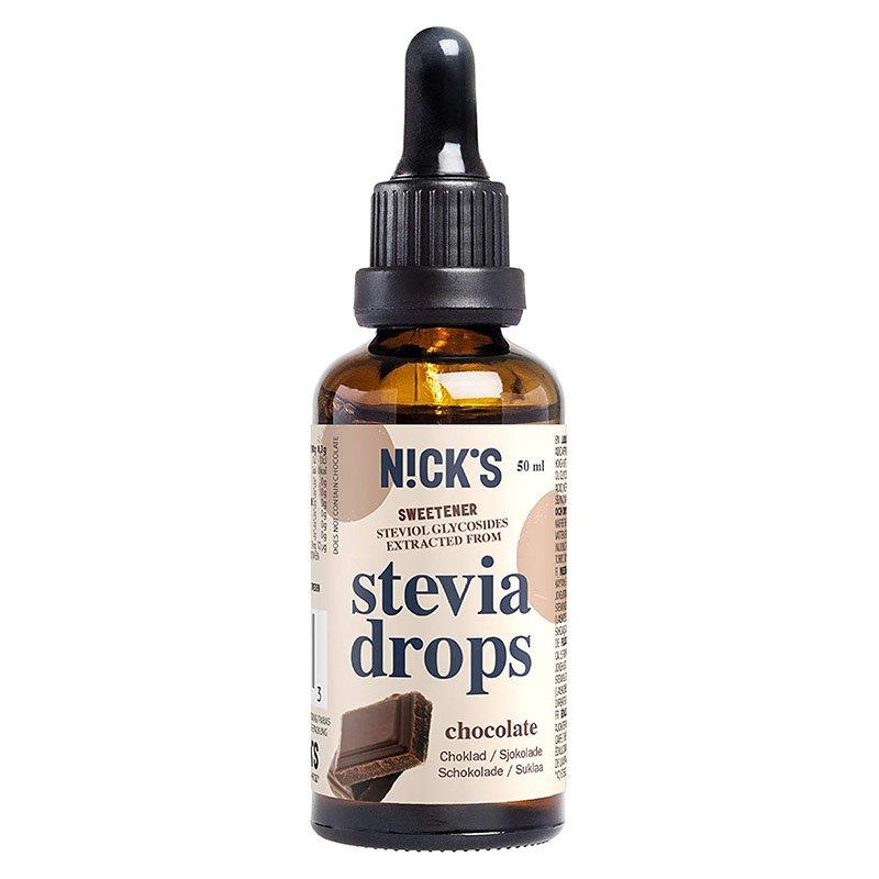 Stevija lašai, šokolado skonio, Nicks Stevia Drops Chocolate (50ml) | ifood.lt