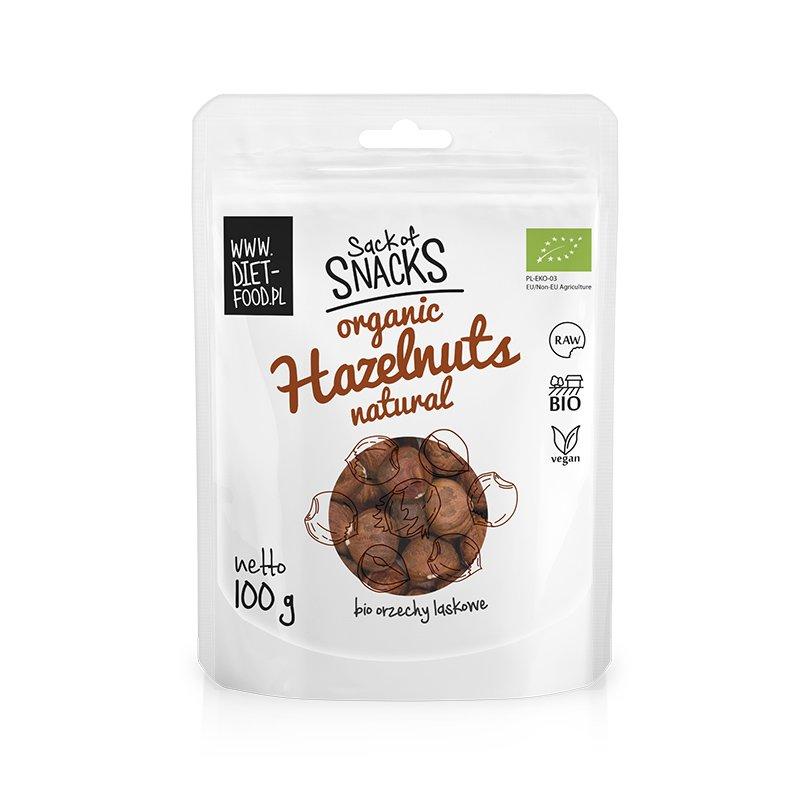 Ekologiški lazdyno riešutai, Diet Food Hazelnuts (100g)   ifood.lt