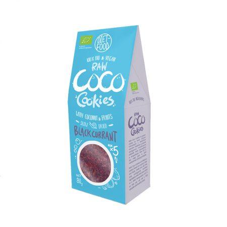 Ekologiški sausainiai su juodaisiais serbentais, be cukraus, Diet Food Coco Cookies (80g) | ifood.lt
