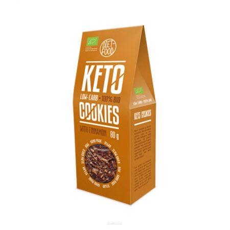 Ekologiški sausainiai su cinamonu, be cukraus, Diet Food Keto Cookies (80g) | ifood.lt