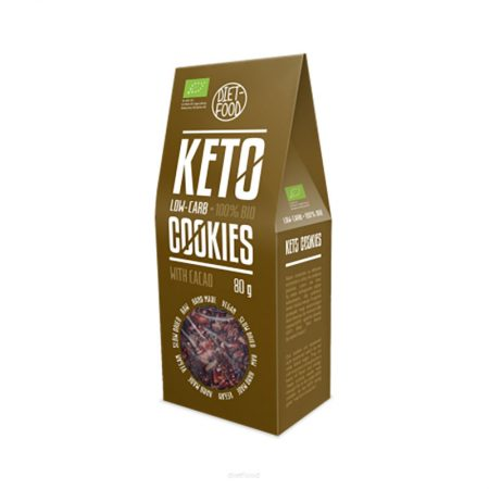 Ekologiški sausainiai su kakava, be cukraus, Diet Food Keto Cookies (80g) | ifood.lt