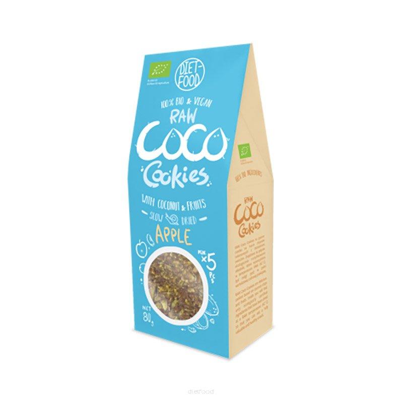 Ekologiški sausainiai su obuoliais, be cukraus, Diet Food Coco Cookies (80g) | ifood.lt