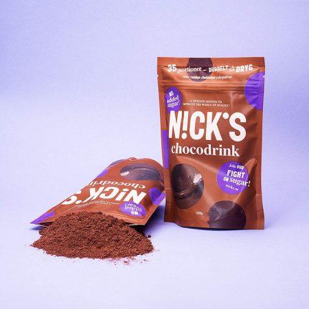 Šokoladinis gėrimas, kakava, be cukraus, Nicks Chocodrink (250g) | ifood.lt