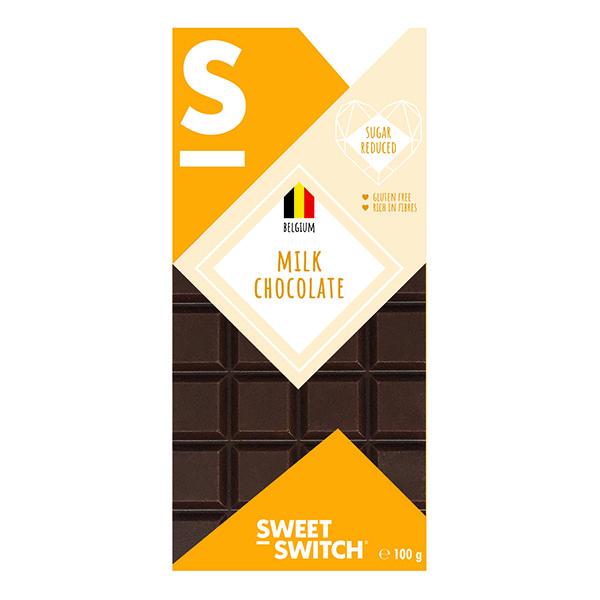Pieniškas šokoladas, be cukraus ir glitimo, Sweet Switch Milk Chocolate (100g) | ifood.lt