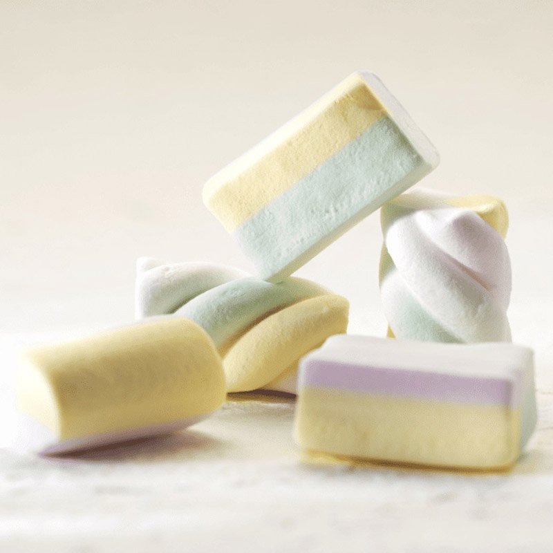 Zefyrai be cukraus ir glitimo, Sweet Switch Marshmallow Twist Mix (70g) | ifood.lt