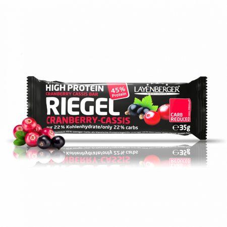 Spanguolių likerio skonio baltyminis batonėlis be cukraus, Layenberger Riegel (35g) | ifood.lt