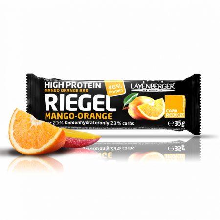 Mango ir apelsinų skonio baltyminis batonėlis be cukraus, Layenberger Riegel (35g) | ifood.lt