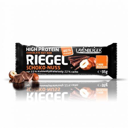 Šokolado ir lazdyno riešutų skonio baltyminis batonėlis be cukraus, Layenberger Riegel (35g) | ifood.lt