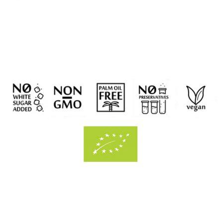 Ekologiška, be pridėtinio cukraus, be GMO, be palmių aliejaus, be konservantų, veganiška, vegetariška | ifood.lt