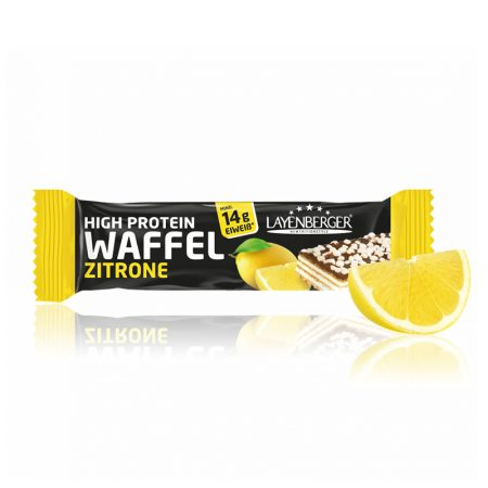 Citrinų skonio vaflinis baltyminis batonėlis be cukraus, Layenberger Waffel (40g) | ifood.lt
