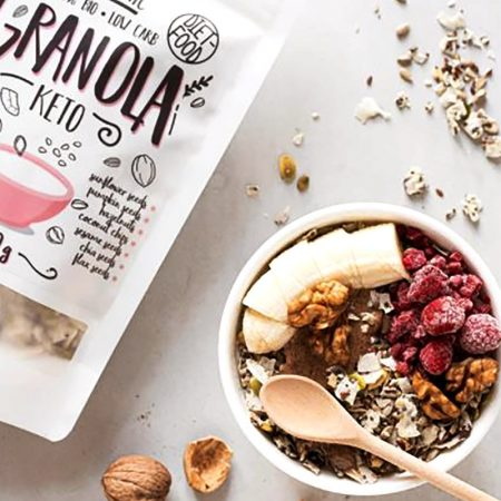 Ekologiška Keto granola, be cukraus, Diet Food Granola Keto (200g) | ifood.lt