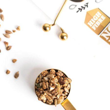 Ekologiška granola su riešutais, be cukraus, Diet Food Granola Nuts (200g) | ifood.lt
