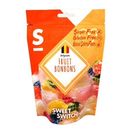 Vaisių skonio saldainiai, be cukraus ir glitimo, Sweet Switch Fruit Bonbons (70g) | ifood.lt