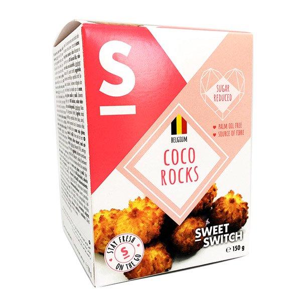 Kokosiniai sausainiai, be cukraus, Sweet Switch Coco Rocks (150g) | ifood.lt
