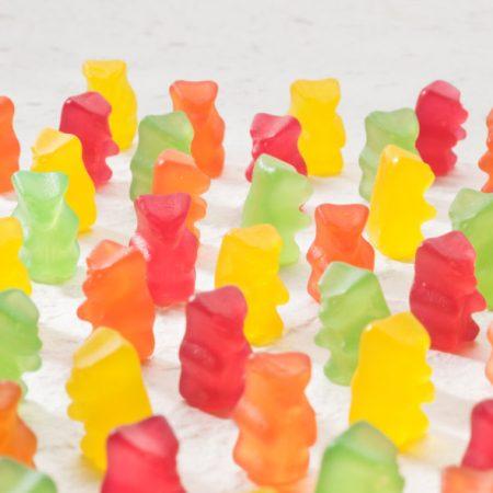 Vaisių skonio guminukai, be cukraus ir glitimo, Sweet Switch Yummy Gummy Bears (150g) | ifood.lt