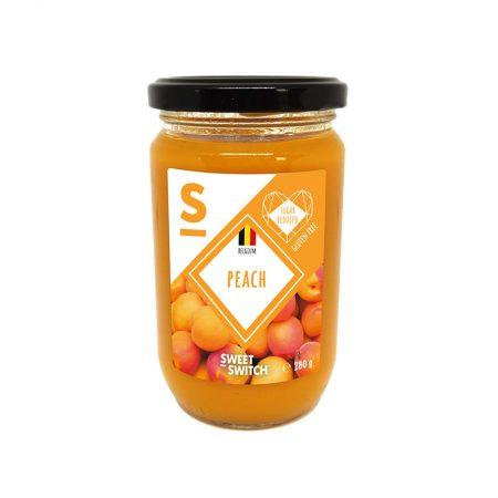 Persikų džemas, be pridėtinio cukraus, Sweet Switch Peach Spread (280g) | ifood.lt
