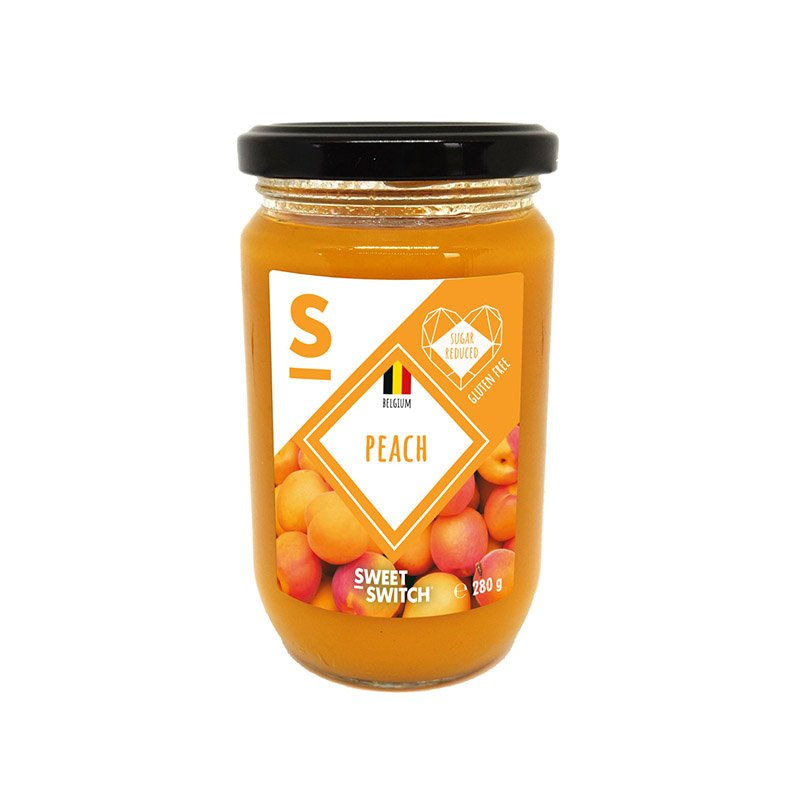 Persikų džemas, be pridėtinio cukraus, Sweet Switch Peach Spread (280g)   ifood.lt