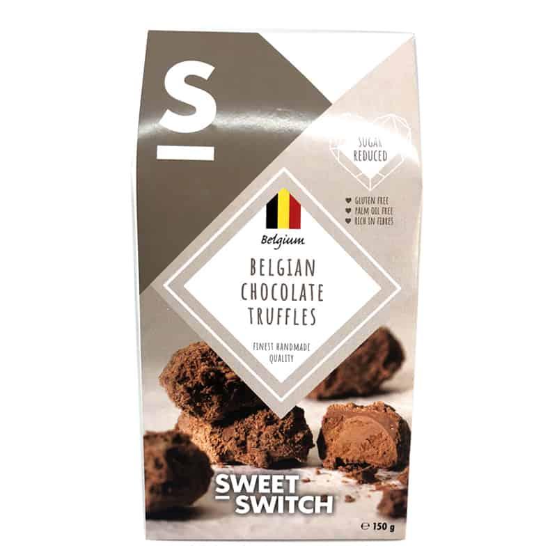Triufeliai, be cukraus ir glitimo, Sweet Switch Belgian Chocolate Truffles (150g) | ifood.lt