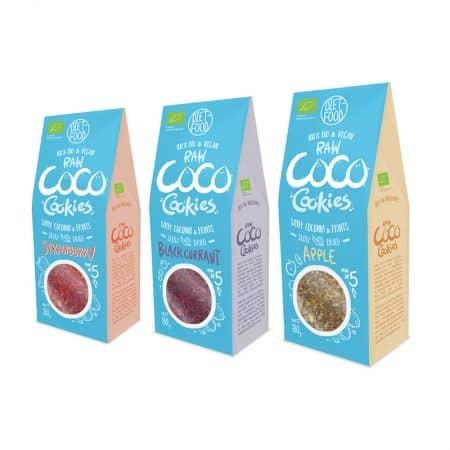 Ekologiškų sausainių su vaisiais rinkinys, be cukraus, Coco Fruity Cookies | ifood.lt