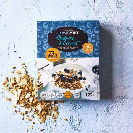 Granola su mėlynėmis, be cukraus ir glitimo, Low Carb (500g) | ifood.lt